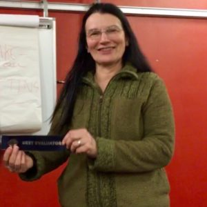 Clare was Best Evaluator Hull Speakers