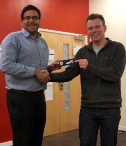 Lincoln Smith Wins Table Topics at Hull Speakers