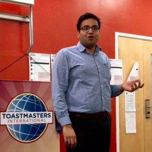 Murali talking at Hull Speakers