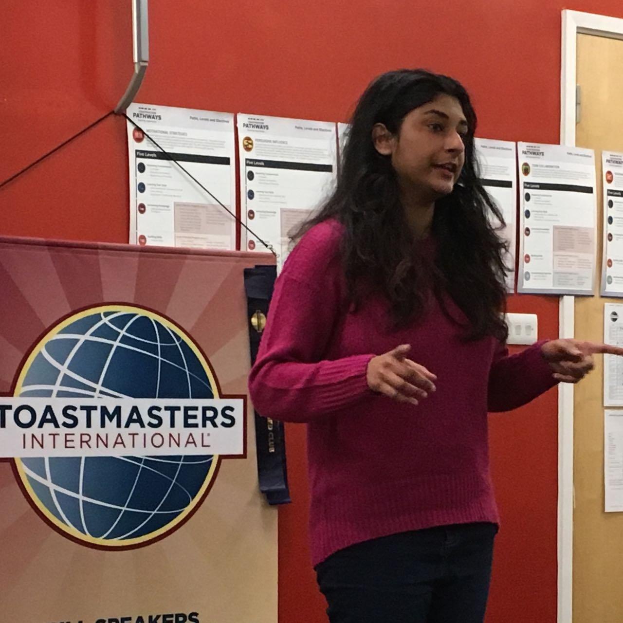 Sireesha talking at Hull Speakers