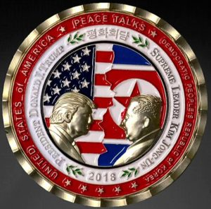 White House sources plack of President Trump and Supreme Leader of North Korea Kim Jung Un