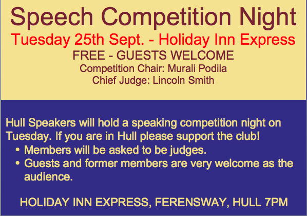 Big Event! Speech Contest
